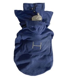 "Hoppediz Fleece-Cover ""Basic"" blau"