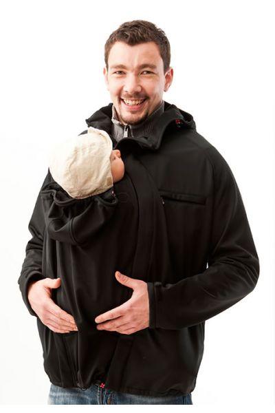 mamalila Männer Softshell-Tragejacke schwarz