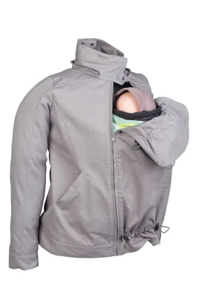 Momawo Tragejacke light grau