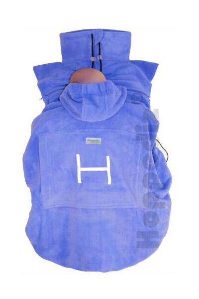 "Hoppediz Fleece-Cover ""Basic"" hellblau"