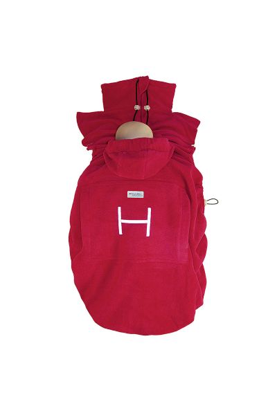 "Hoppediz Fleece-Cover ""Basic"" rot"