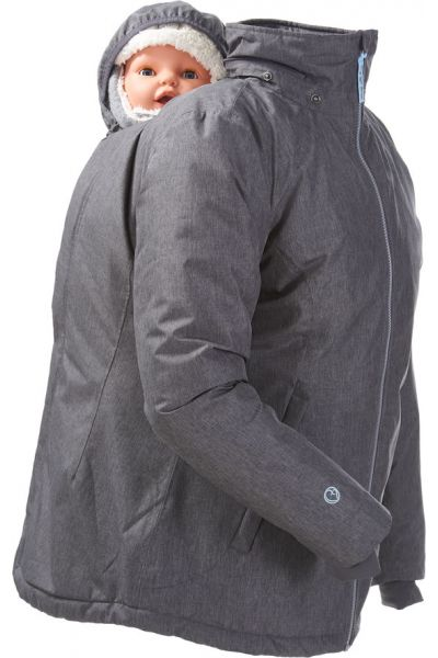 mamalila Winter-Tragejacke Ice Grey